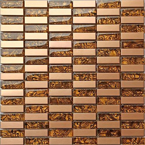 3-stuck-30-x-30-cm-glas-gold-bronze-geburstet-edelstahl-mosaik-fliesen-mt0104