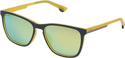 Police Square Men'S Sunglasses - Spl573M, 55 Yellow