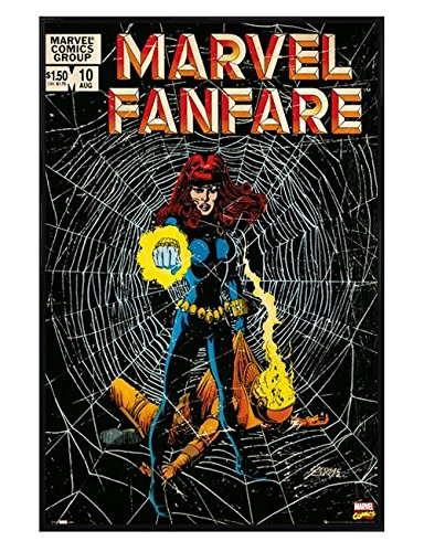 Kinder Schwarz glänzend gerahmtes Poster Marvel Comics Black Widow Maxi, 61x 91,5cm