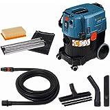 Bosch Professional GAS 35 L AFC, 1380W max, behållarvolym 35l, fogmunstycke 250mm, platt PES-veckfilter, böj, set med gol