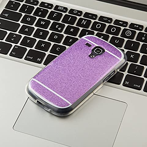 FINOO ®   Handyhülle Glitzer Bling Bling TPU Bumper Case Weiches Silikon Schutzhülle für SAMSUNG GALAXY S3 Mini