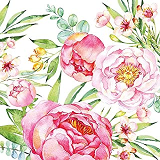 Ambiente Paper Napkins Lunch / Party Appro. 33x33cm Peony