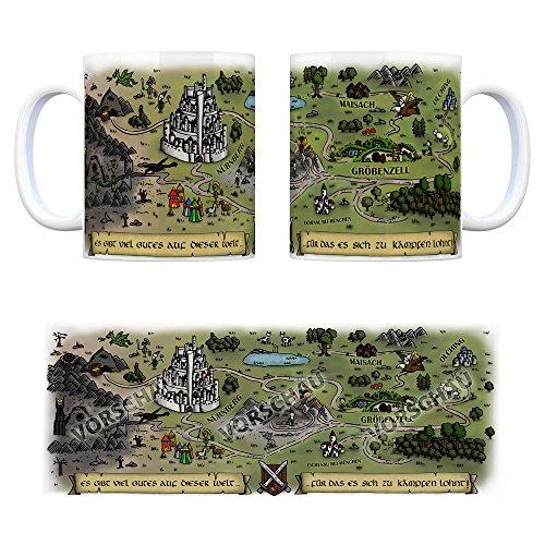 Gröbenzell Fantasy Kaffeebecher - eine Tasse als Geschenk zum Geburtstag für alle die Rollenspiele lieben!