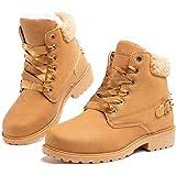 Botas Mujer Invierno Botas de Nieve Cálido Zapatos Botines Forradas Planas Snow Boots Antideslizante Calzado Comodos Cordones