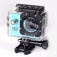 73JohnPol Fotocamera Impermeabile da 2.0 Pollici con Doppio Schermo Sportivo DV Action Camera (Colore: Nastro)