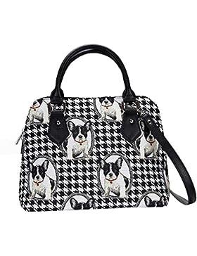Damen Tapisserie Handtasche mit
