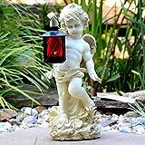 Angelo statua con la lanterna 38cm grave tomba gioielli