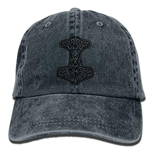 pigyear888 Thor's Hammer Viking Norse Adjustable Cotton Hat