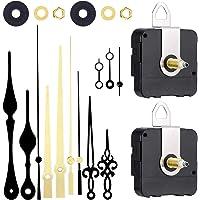 2 pezzi ad alta coppia di torsione lunga con meccanismo di movimento dell'orologio con 4 set di lancette di ricambio per…