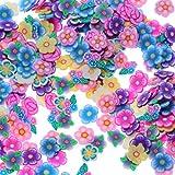 Weiche Keramik Nail Art Dekoration 3D Blume Scheiben DIY Nail Art Dekoration für Frauen Fimo Box verpackt