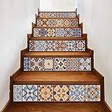 TianranRT DIY Schritte Aufkleber Abnehmbar Treppe Aufkleber Haus Dekor Keramik Fliesen Muster (A)
