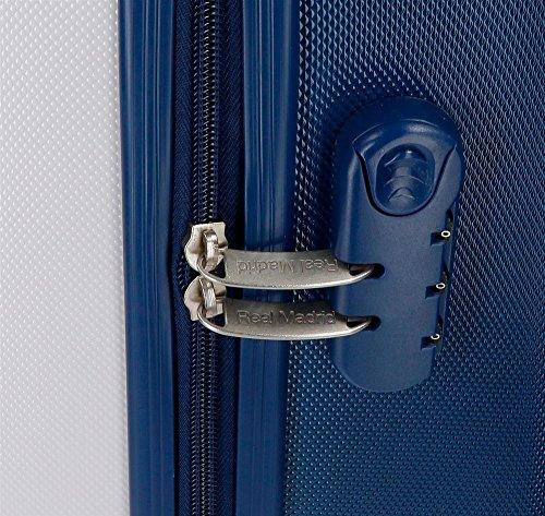 Real Madrid 5381562 RM Gol Maleta, 67 cm, 53 Litros, Blanco