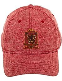42ee8ed23619d Bioworld Harry Potter Gryffindor Rubber Weld Cationic Flex Cap Baseball Hat