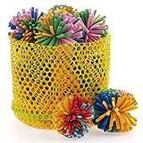 chiwava Schaumstoff Katzenspielzeug Ball 4,6cm Colorful EVA Flower Ball Kätzchen Aktivität Play Mix Farbe