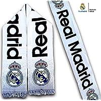 Bufanda Real Madrid – Blanca con degradado gris – Producto Oficial