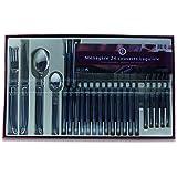 Laguiole Production - Ménagère 24 pièces - Set de couverts de table acier inox et ABS pour 6 personnes - Présentation coffret