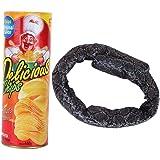 Narrentag Streich gef/älschte Schlange als Scherzartikel CDKJ Kniffliges Spielzeug Halloween-Spielzeug zuf/ällige Farbe Kartoffelchipschlange kann springen