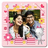 exciting Lives Happy Pink Personalised Photo Magnet - Romantic Gift for Couples Husband Wife Girlfriend Boyfriend