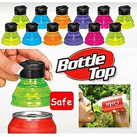 Aliciashouse Pueden convertir 6pcs Soda Creative descuentos Toppers tapas de las botellas reutilizables