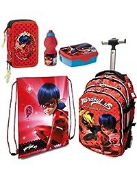 30a706e9e9 Ladybug Miraculous Zaino Trolley Scuola Astuccio Triplo Set Colazione  Ragazza Bambina MARINETTE