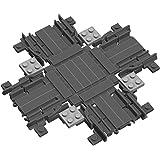 Brigamo - Set di 42 mattoncini per costruzioni ferroviarie