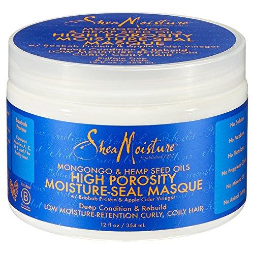 SHEA MOISTURE - Hanfsamenöl und Baobab Protein - Anti-Frizz-Haarmaske - Für trockenes Haar, neigt zu Frizz - Verbessert die Elastizität - Glättung - Schützende - Natürliche Inhaltsstoffe - 354ml - Anti-frizz-glättungs-balm
