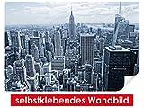 selbstklebendes Wandbild Skyline of New York II – leicht zu verkleben – Wallprint, Wallpaper, Poster, Vinylfolie mit Punktkleber für Wände, Türen, Möbel und alle glatten Oberflächen von Trendwände