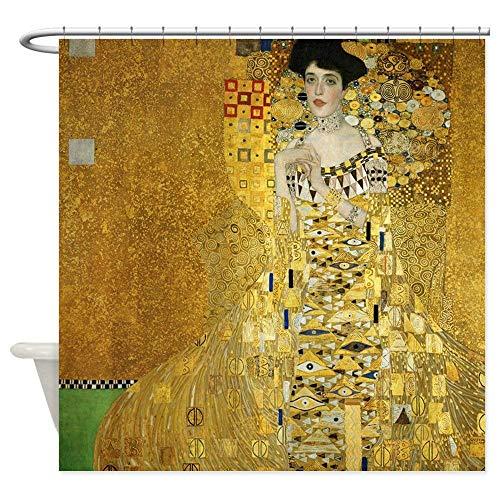 La Giacca Dreamhome Adele Bauer by Klimt Decorativo Tessuto Tenda Doccia (182,9x 182,9cm)