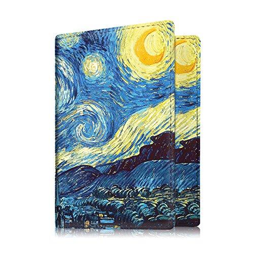 Fintie Porte-passeport Housse - Voyage Protecteur Porte-feuille Pochette étui de protection pour passeport, Starry Night