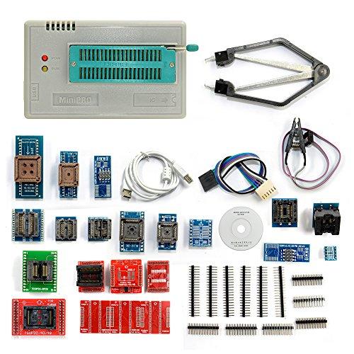 Clip-test-adapter (Cymall TL866A mit 24 Adapter, TL866A Universal Minipro Programmierer + 24 Adapter + Test Clip TL866 EEPROM Programmierer(TL866A with 24 Adapter))
