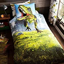 Dinosaurier Bettw/äsche Garnitur natur 135x200 50x75cm