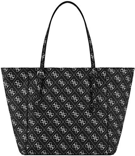 Sac shopping Guess porté main ou épaule de la collection Delaney pour femme Noir
