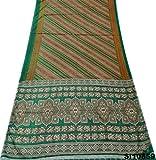 D'Antiquariato Abito Pareo Stampato Indiano Tessuto Misto Sari Di Seta Tenda Utilizzata DrapeMarrone Sari - Peegli - amazon.it