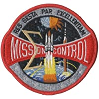 PATCH,TOPPA RICAMATA TERMOADESIVA ,,NASA MISSION CONTROL PATCH 10 cm,, (Nasa Patch)