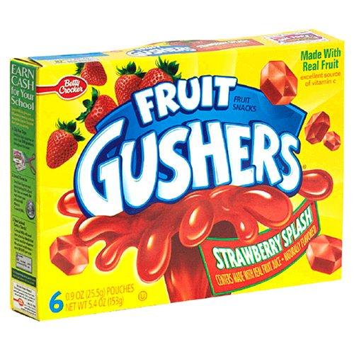 Fruit Gushers (Frucht Quelle) Aroma Imbisse Erdbeeren