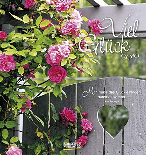 Viel Glück 2019 Postkartenkalender