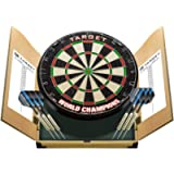 Target Darts Home Darts Cabinet Set - World Champions Dartboard with 2 Sets of Darts