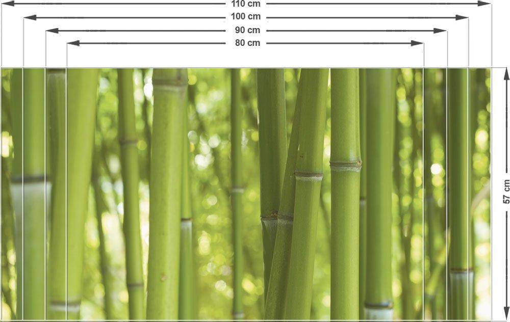 Amazon.de: Sichtschutz Fensterfolie Sichtschutzfolie Für Badezimmer Bambus  Bambusstamm (80x57cm)