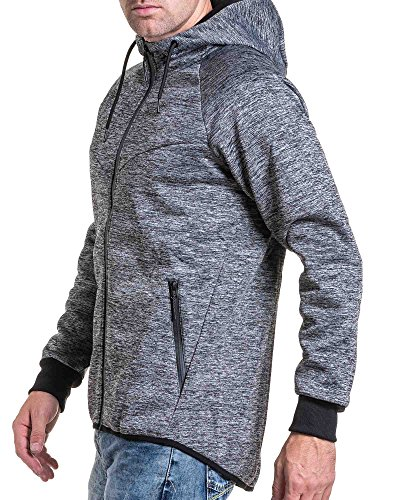 BLZ jeans - Sport-Jacke grau marl Hoodie Grau