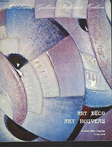ART DECO, ART NOUVEAU. VENTE DU 8 JUIN 1978. GRAVURES LITHOGRAPHIES, AFFICHES, DESSINS... SCULPTURES, LIVRES, OBJETS D'ART ET D'ORFEVRERIE, CERAMIQUES, VERRERIES, LAQUES, MOBILIER...