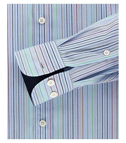 Casa Moda - Comfort Fit - Herren Gestreiftes Dobby Hemd mit Button-Down Kragen (472644900) Grün (300)
