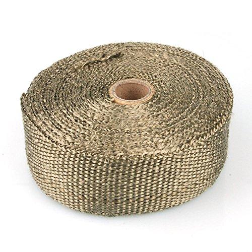 Hitzeschutzband Basaltfaser Gewebe, bis 1000 Grad, 10 m Rolle, braun, Auspuffanlagen, Fächerkrümmer
