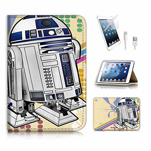 (für iPad Mini 4, Generation 4) Flip Wallet Schutzhülle & Displayschutzfolie Bundle. A4055BB8Krieg der Sterne