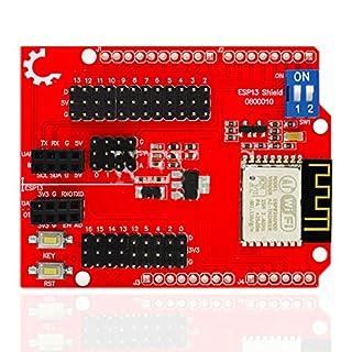 Tolako ESP8266 Web Server Serial Port WiFi Shield Expansion Board ESP-13 Compatible for Arduino UNO R3 MEGA 2560