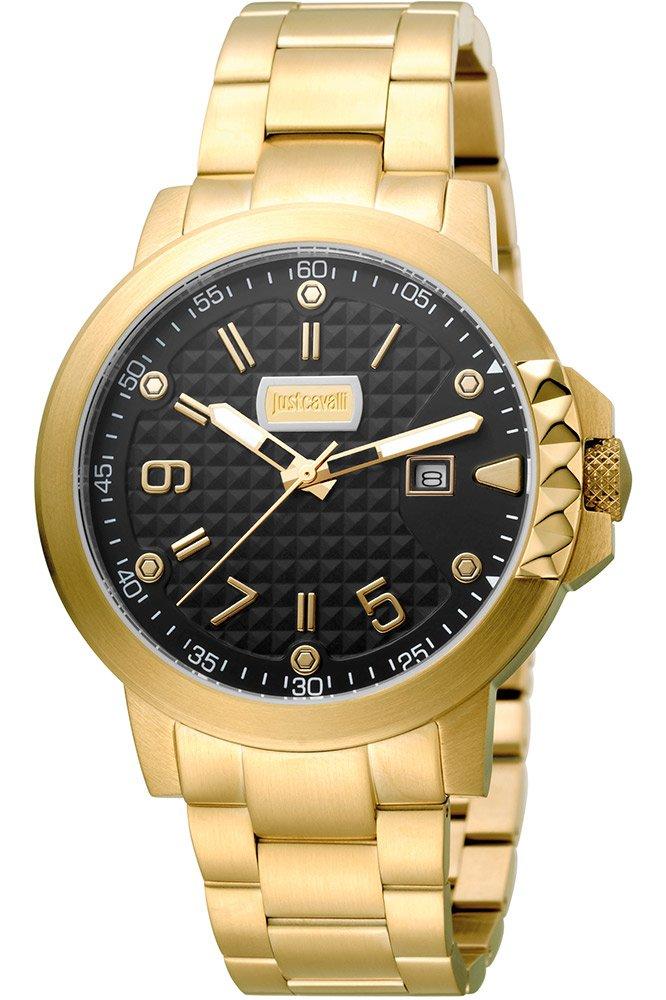 Just Cavalli Reloj Analógico para Hombre de Cuarzo con Correa en Acero Inoxidable JC1G016M0085