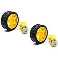 Electrobot DC Motor + Wheel for Arduino Robot Smart Car (2 Pcs)