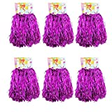 CRIVERS 1 douzaine Cheerleading Pompons, 12pc Pom-Pom Girls Pompoms avec PoignšŠe pour Ball Dance DšŠguisements Nuit Fšºte des Sports