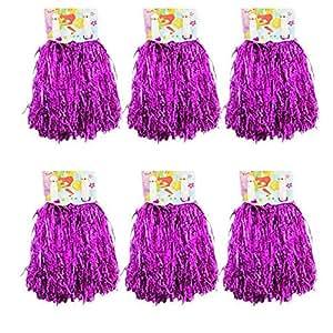 1 Dutzend Cheerleading Pompons, CRIVERS 12pc Cheerleader Pompoms für Ball Tanzen Schick Kleid Nacht Party Sports (Rose)