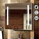 Strip Led Illuminated Bathroom Mirror Cabinets Demister Shaver Sensor Opticon(650X500 Stripe Mirror Cabinet)