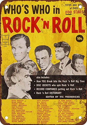 1958-who-s-who-in-rock-n-roll-stile-vintage-riproduzione-in-metallo-tin-sign-203-x-305-cm